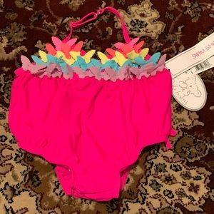 6mo infant bathing suit with butterflies NWT